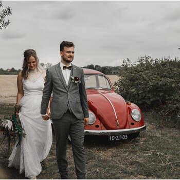 Berry Kissed Boho Bridal Shoot: een mix van natuur, industrieel en bohemian! | Foto: Gina Vink Fotografie