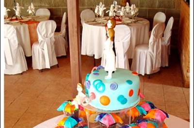 Tendencias: tortas de novios de cupcakes para la boda