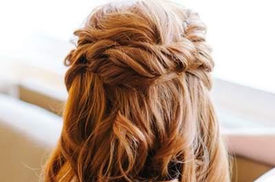 Cabello suelto para tu peinado de novia 2015