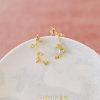 Brincos dourados Jenny