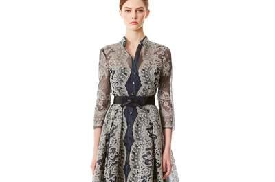 Carolina Herrera Pré Fall 2015: Vestidos de festa elegantes com muita cor e estampados