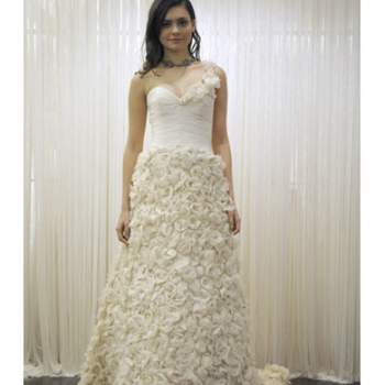 Robe de mariée bustier Badgley Mischka Printemps 2012.