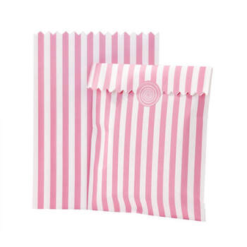 Bolsa a Rayas Rosas y Blancas para Caramelos- Compra en The Wedding Shop