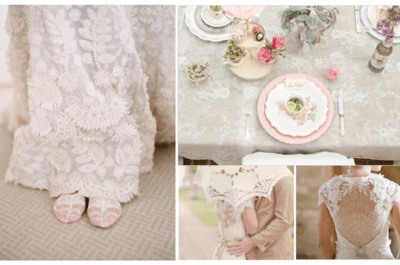 The refinement of lace from start to finish at your wedding