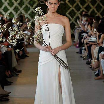Robe de mariée élégante et sobre. Photo : Oscar de la Renta