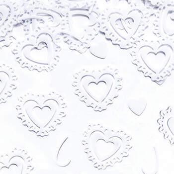 Corazones blancos de confeti - Compra en The Wedding Shop