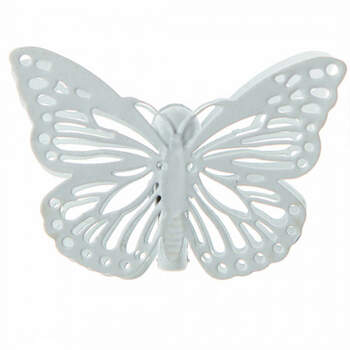 Mariposas blancas con pinza 4 unidades - Compra en The Wedding Shop