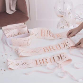 Echarpe Team Bride Romantique 6 Pieces - The Wedding Shop !