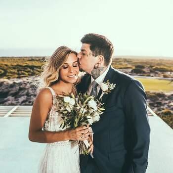 Agir relembrou o dia em que casou com Catarina Gama. «Casados mas eternamente namorados.» diz na sua conta @agirofficial