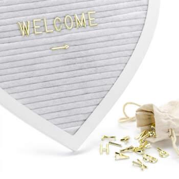 Corazón con letras doradas- Compra en The Wedding Shop