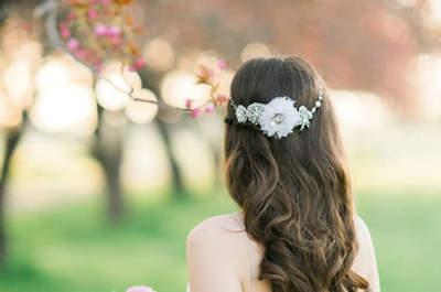 Peinados de novia con pelo suelto. ¡Apuesta por lo natural y triunfa!