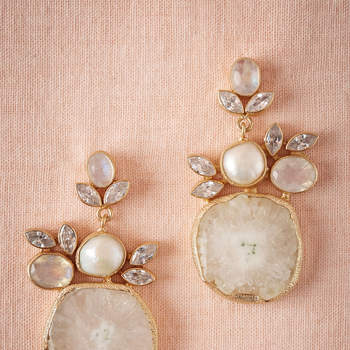Druzy Drop Earrings. Credits: Bhldn