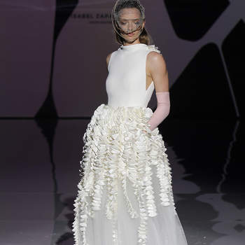 Isabel Zapardies. Credits: Barcelona Bridal Fashion Week