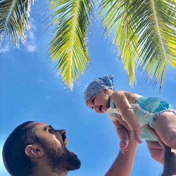 Ricardo Pereira e Francisca foram pais da terceira filha, Julieta. A menina nasceu a 1 de setembro, no Rio de Janeiro e juntou-se aos irmãos Vicente, de cinco anos, e Francisca, de três. Foto via Instagram Ricardo Pereira