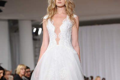 Wedding dresses with sexy V-necklines for 2017: exquisite designs that will mean all eyes are on you!