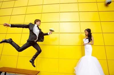 Жизнерадостная свадьба в оттенках желтого!