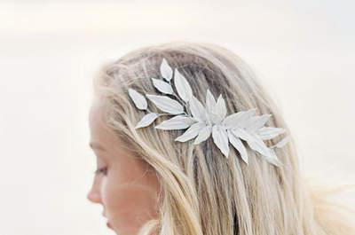 Peinados de novia con pelo suelto: ¡Al natural!