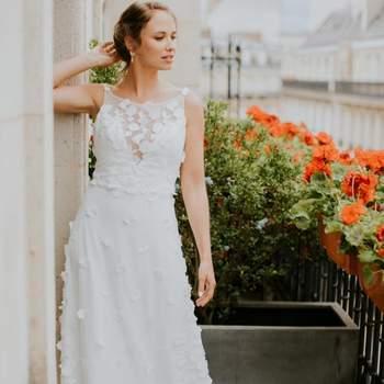 Robe de mariée la Parisienne modèle Prisca - Crédit photo: Elsa Gary