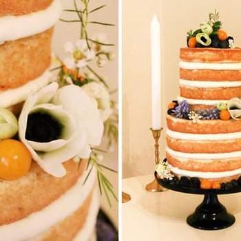 Naked cake. Bolo: Sabores da Gula