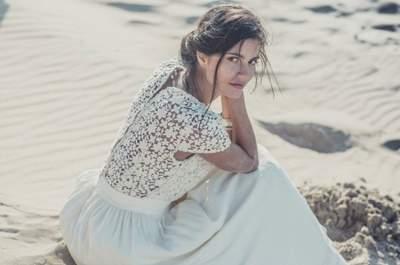 Brautkleider aus der Kollektion von Laure Sagazan – zu finden bei Printemps Haussmann