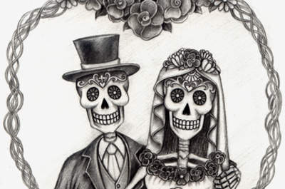 Halloween wedding inspiration? Who said romance was dead!