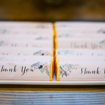 Chocolatinas con envoltorio de papel con mensaje. Credits: Melissa Oholendt