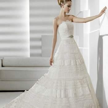 Los vestidos de novia de La Sposa son todo un sueño! Diseños mega románticos, de estilo princesa, ideales para las mujeres que desean tener un matrimonio de cuentos.Foto: La Sposa