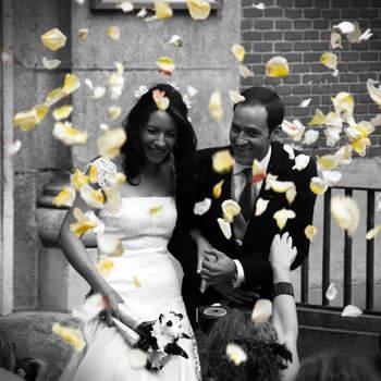 Schwarz/weiß Hochzeitsfotos - Foto: Click & Wed