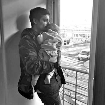 Nuno Janeiro, foi pai pela primeira vez de Dinis, que nasceu em maio e é fruto da relação do ator com a namorada, Rita Soares. Foto Instagram Nuno Janeiro