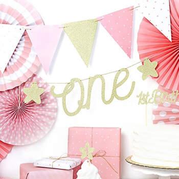 Inscripción One Primer Cumpleaños Niña- Compra en The Wedding Shop