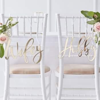 Décorations De Chaise Mariage D'or - Achetez sur The Wedding Shop !