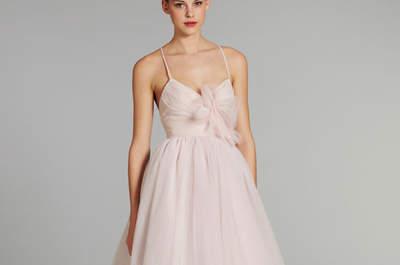 Vestidos de novia en color rosa de moda para el 2013