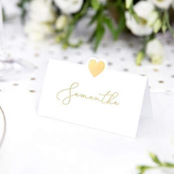 Marcasitio Tradicional Corazón Oro 10 unidades- Compra en The Wedding Shop