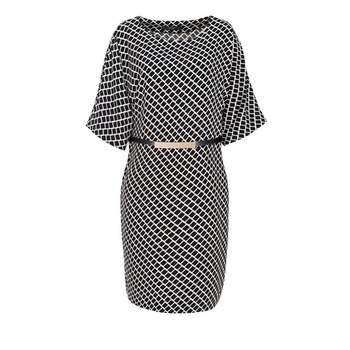 Credits : La Redoute. Hallhuber. Robe kimono à l'imprimé scintillant.