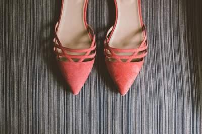Zapatos de novia en lindos colores: La tendencia perfecta