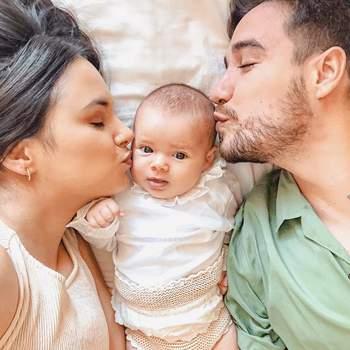 A pequena Madalena é fruto do casamento com Guilherme. | Foto via Instagram @mafalda.sampaio