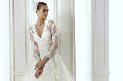 Mangas con encaje de Pronovias 2015, descubre las nuevas ideas para tu vestido de novia