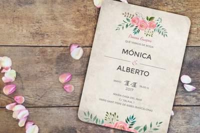 Tres dudas sobre tus invitaciones de boda: ¡El cuándo, el cómo y el por qué!