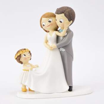 Cake Topper Avcec Peite Fille - The Wedding Shop !