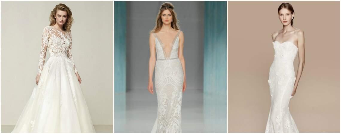 Los 50 vestidos de novia para mujeres delgadas más hermosos para tu día B