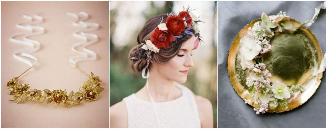 Bloemenkroon voor de bruid; fleur jouw haar op met de mooiste bloemen!