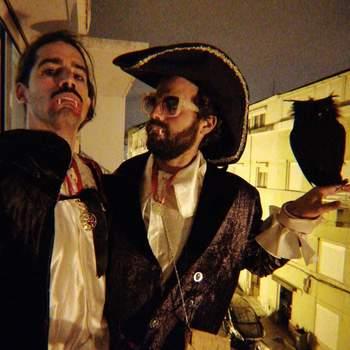 João Manzarra e um amigo. Foto IG @manzarra