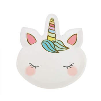 Platos unicornio 12 unidades- Compra en The Wedding Shop