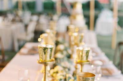 La tendencia gold en tu matrimonio. ¿Te atreves con elementos tan chic?