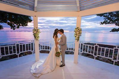 Destination wedding de Isis & Leonardo: com direito a um pôr-do-sol maravilhoso de frente para o mar em Punta Cana!