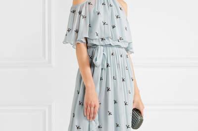 Niebieskie, długie sukienki na wesele!