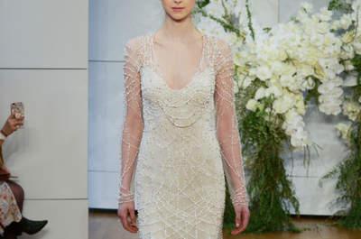 Robes de mariée avec strass : soyez une mariée chic !