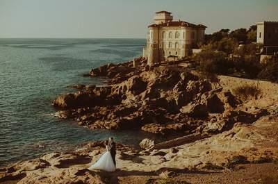 Sesja ślubna na wybrzeżu Morza Liguryjskiego w Livorno , to uczta dla ona. Oto ona!