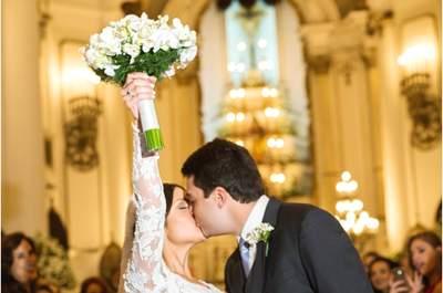 Casamento clássico super romântico de Mariana e Rodrigo: rosa, marsala e verde foram as cores escolhidas!
