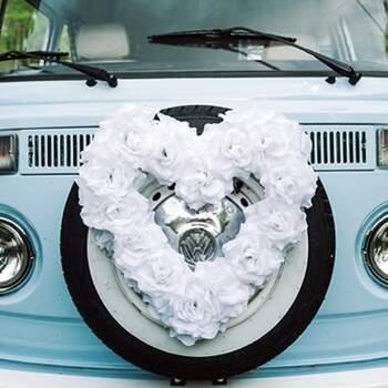 Cœur De Fleurs Pour Voiture - The Wedding Shop !